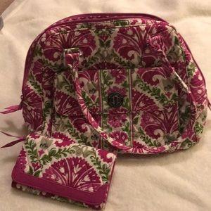 Vera Bradley bundle satchel and wallet